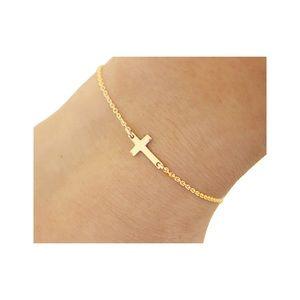 Gold Cross Bracelet - NWT
